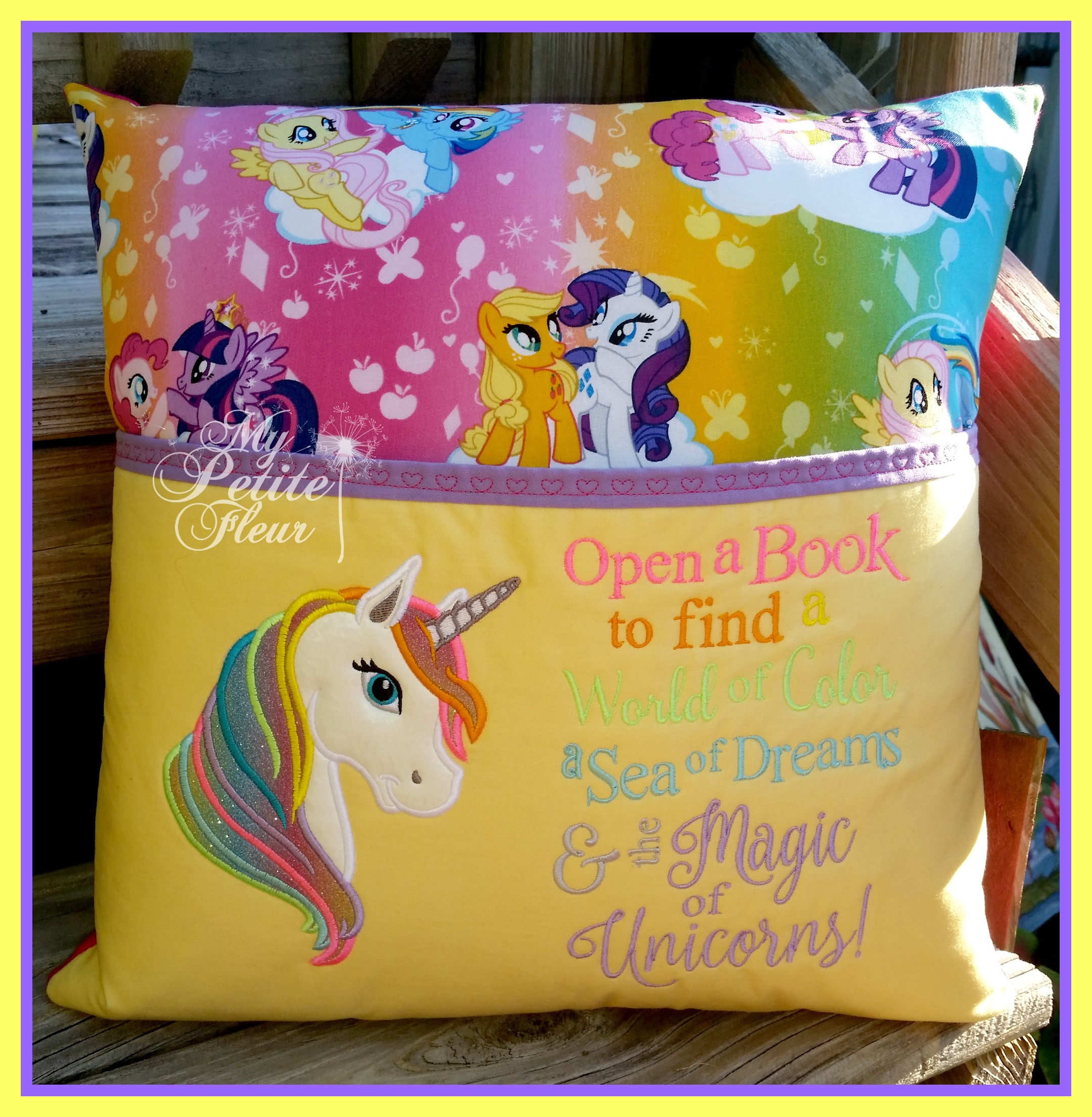 Saying With Unicorn Embroidery Design